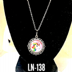 children's Pink & silver Unicorn necklace